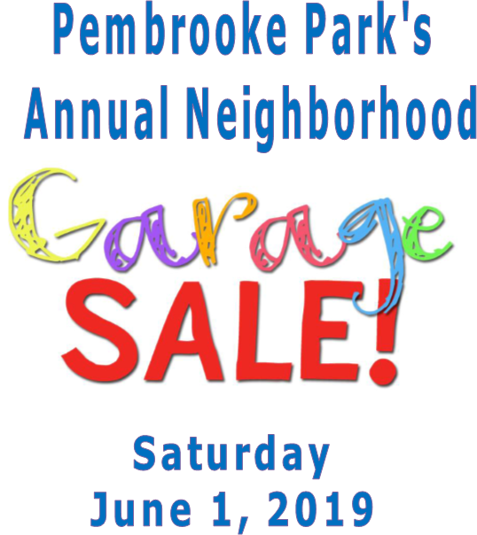 Annual Garage Sale- Mark Your Calendars!