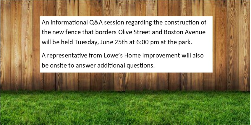 Q&A Meeting Regarding the Construction of the New Fence